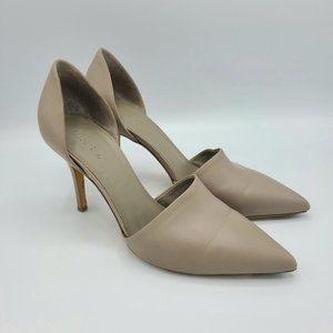 Vince Claire Woodsmoke D'orsay Leather Heels 8.5